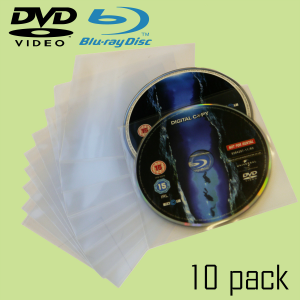 BLURAY & DVD Spare Inner Sleeves (10, 100, 200 and 500 Packs Available)